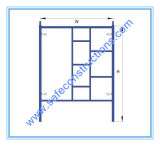 Sicheres SGS-anerkanntes Rahmen-Baugerüst für Aufbau