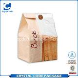 Alta calidad y bolsa de papel de arriba inferior de Brown