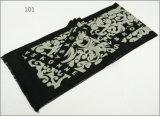 レディース男女兼用の可逆カシミヤ織の感じの冬の暖かい点検されたダイヤモンドの花の印刷の厚く編まれた編まれたスカーフ(SP272)