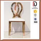 Cadeira confortável do casamento do ouro de Rosa do aço inoxidável