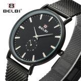Belbi einfaches Geschäfts-ultradünne Stahlquarz-Bewegungs-Dame Uhr