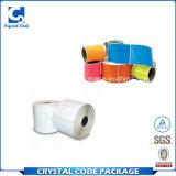 Etiqueta autoadhesiva termal impermeable de diversa talla