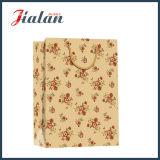 Bolsa de papel impresa leopardo del regalo del portador del papel de Brown que hace compras Kraft