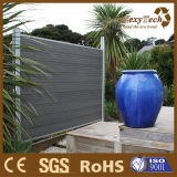 容易なインストールアルミニウムポストが付いている木製のプラスチック合成物WPCの塀