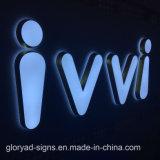Letras de canal de frente para o exterior e tela de sinal de LED