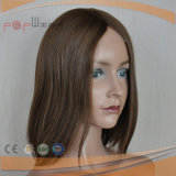 Cheveux bruns brésilien en soie Top Handtied Work Women Medical Wig