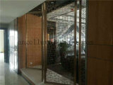 Sala de reuniones de acero inoxidable de pantalla decorativa de corte láser pantalla plegable