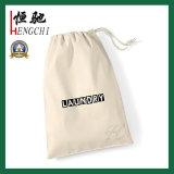 高品質明白なカラー綿のドローストリングのバックパック袋