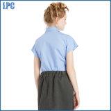 Chemise à manches courtes uniformes de l'école d'été