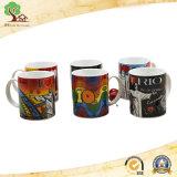 Anunciando canecas cerâmicas para o logotipo do baixo preço de Customied 12oz marcado presente relativo à promoção
