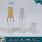 Frasco de vidro cosmético Shaped do pulverizador da bomba do cilindro para o perfume 10ml