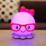 Creative Cartoon Octopus Night Light LED Rechargeable Energy Desk Lamp Chambre Baby Nurse Sleep Bedside