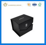 Casella impaccante della stuoia del nero del documento del profumo pieno di lusso del cartone (con la stagnola calda di marchio)