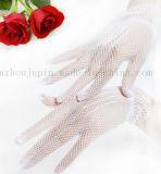 Перчатки изготовленный на заказ венчания краткости сетки способа белого черного похоронного Bridal