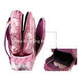 Zaino della ragazza di modo di colore rosa del sacchetto di banco della spalla del raso