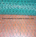 Tela metálica hexagonal de pollo del PVC de Sailin