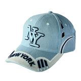 Blaue Baseballmütze mit weißem Embroiderey (JRE115)