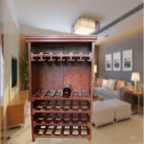 Le meilleur Module de vente de vin de meubles à la maison en bois avec la crémaillère en verre de vin