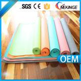 La coutume a estampé le couvre-tapis 6p de yoga de PVC diplôméee