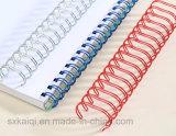 Двойной провод петли для спиральн вязки книги в крене