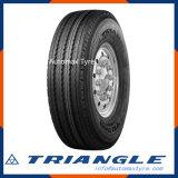 La UE del triángulo de Trs02 295/80r22.5 12r22.5 etiqueta el neumático del carro