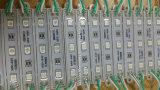 3SMD5050 el módulo de epoxy verde 75*12 del color LED impermeabiliza el módulo del LED