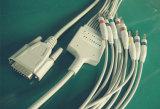 Cabo do IEC Banana4.0 EKG/ECG de Nihon Kohden 15pin