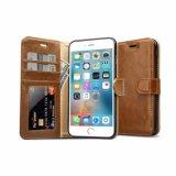 Caja plegable del teléfono del cuero genuino para la caja del teléfono del caso del iPhone 7
