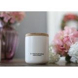 Vela orgánica perfumada de cristal blanca helada modificada para requisitos particulares de la cera de la soja