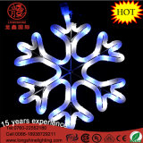 "LED 16 ""Floco de Neve Azul Piscando Montagem Hanging Rope Motif Chritmas Light"