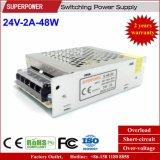 24V 2A 48W Schaltungs-Stromversorgung aufgehoben für Drucker