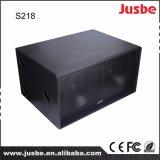 Verdoppeln 18 Zoll 1200 des professionellen im Freien AudioTonanlage-Watt Lautsprecher-Subwoofer