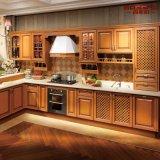 Armadio da cucina di legno del teck solido moderno della pittura (GSP5-046)