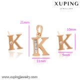 63999 van de manier de Goud Geplateerde Reeks van de Brief K van CZ- Juwelen