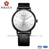 Solid Stainless Steel Genuine Leather Strap Sapphire Watch Swiss Quartz
