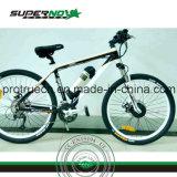 درّاجة كهربائيّة مع محرّك كثّ مكشوف