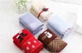 Handdoek de van uitstekende kwaliteit van de Jacquard voor Kinderen die de Gift van Kerstmis van de Handdoek van het Suikergoed van het Fluweel snijden