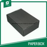 Caixa de papel ondulada preta de transporte de Matt com o Stampping quente de prata