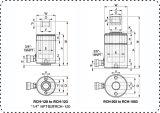 Cilindro vuoto a semplice effetto del martinetto idraulico