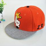 Protezione/cappello di Grey/rossi 6 comitato 3D del ricamo di Snapback