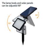 21調節可能な48のLED軽いセンサーのスパイクの太陽庭の中庭ライト3モードの極度の明るい壁ランプの景色のスポットライト