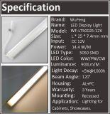 표면에 의하여 거치되는 LED 알루미늄 바 빛 전시 빛