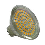 bulbo 12V Gu5.3 do diodo emissor de luz MR16 de 60PCS 3528SMD 3.1-3.3watt (LED-MR16-002)