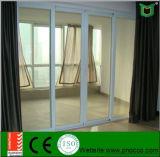 Porte coulissante extérieure utilisée résidentielle à vendre, le guichet de glissement en verre Tempered et la porte