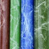 Cuir de marbre de PVC de configuration des graines pour les meubles (918#)