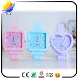 Mini reloj de alarma de la casa de la decoración del silicón multicolor de los niños