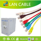 Cable de LAN al aire libre del establecimiento de una red de UTP Cat5e/CAT6 con la platija probada