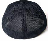 Chapéu feito sob encomenda novo do engranzamento do chapéu do camionista com logotipo de couro da correção de programa