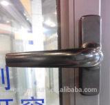 Indicador de vidro dobro ou único de alumínio do toldo do Casement com construído nas lâminas e na tela de segurança