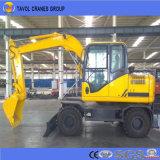 Mini excavador de la rueda para el mercado de la caña de azúcar